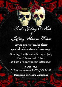 Day Of The Dead Wedding Invitations | Zazzle
