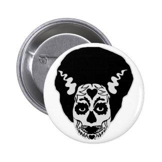 Day of The Dead Bride Pinback Button