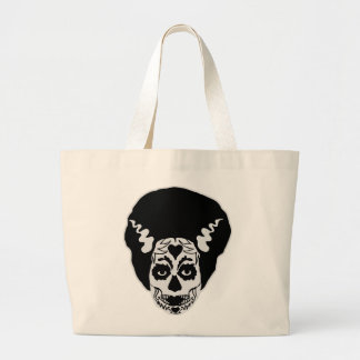 Day of The Dead Bride Large Tote Bag
