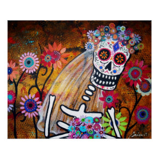 DAY OF THE DEAD BRIDE POSTER