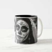 Day of the Dead Bride Two-Tone Coffee Mug