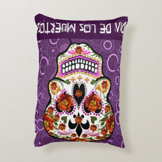 Day of the Dead Brushed Polyester Art Pillow