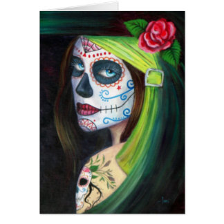 Day of the Dead by Lori Karels Greeting Card