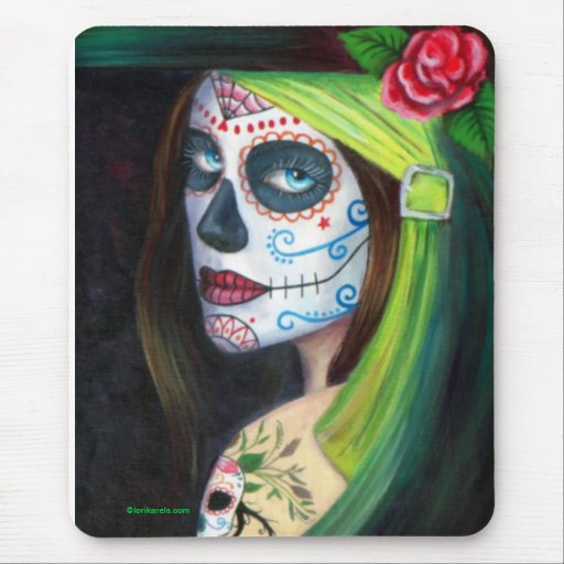 Day of the  Dead by Lori Karels Mouse Pad