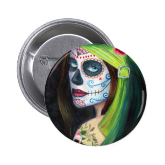 Day of the  Dead by Lori Karels Pinback Button