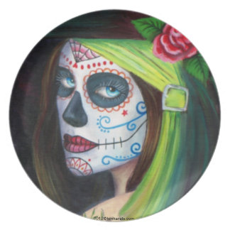 Day of the Dead by Lori Karels Party Plates