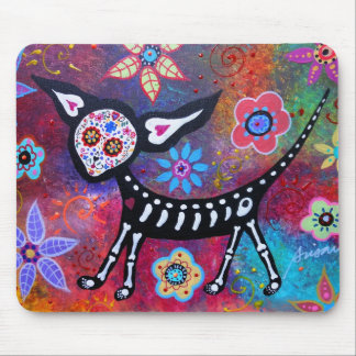 Day of the dead Calavera Chihuahua Mouse Pad