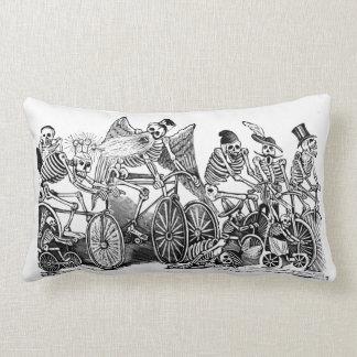 Day of the Dead - Calavera las biciletas Pillow