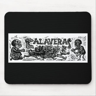 """Day of the Dead. """"Calaveras"""" c. 1951 Mexico. Mouse Pad"""