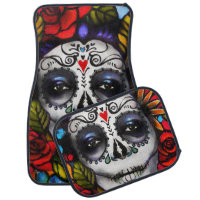 Day of the Dead Car Mat