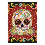 Day of the Dead Card Sugar Skull Art