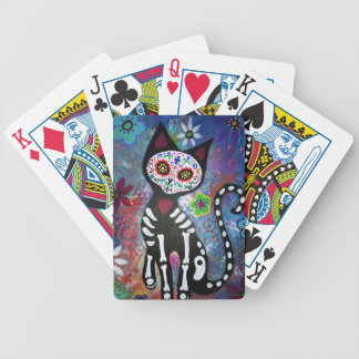 Day of the Dead Cat by Prisarts Bicycle Playing Cards