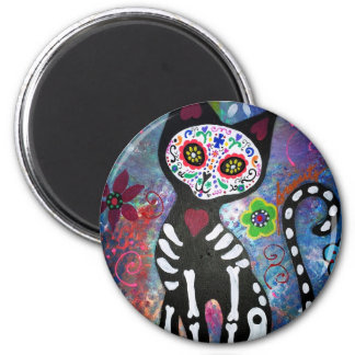 Day of the Dead Cat by Prisarts Magnet