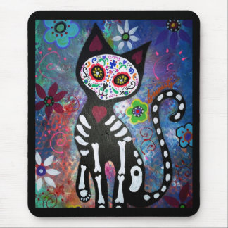 Day of the Dead Cat by Prisarts Mousepad