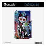 Day of the Dead Cat by Prisarts Decal For iPod Touch 4G