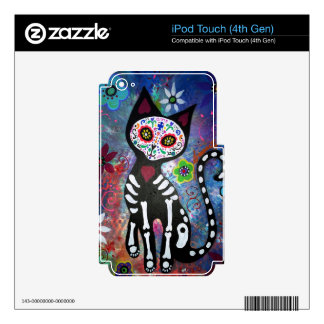 Day of the Dead Cat by Prisarts iPod Touch 4G Decal