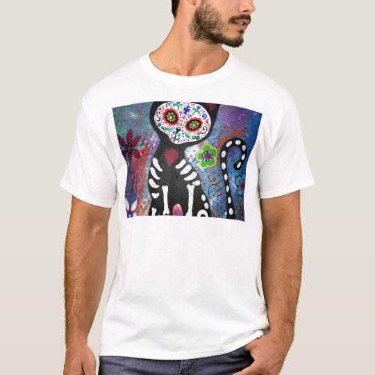 Day of the Dead Cat by Prisarts T-Shirt