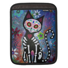 Day Of The Dead Cat Ipad Sleeve at Zazzle