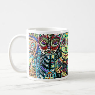 Day Of The Dead Cat Serenade Coffee Mug