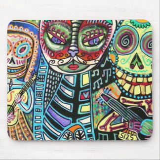 Day Of The Dead Cat Serenade Mousepad