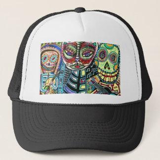 Day Of The Dead Cat Serenade Trucker Hat