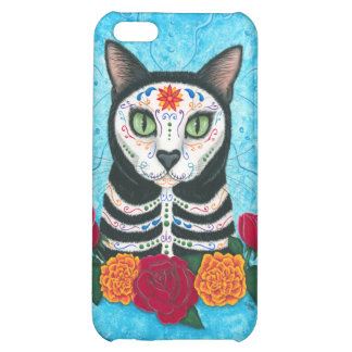 Day of the Dead Cat Sugar Skull Art iPhone 5C Case