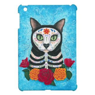 Day of the Dead Cat Sugar Skull Cat Art iPad Mini Cover