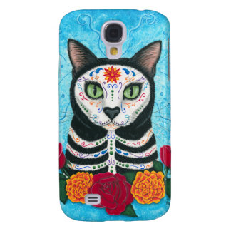 Day of the Dead Cat Sugar Skull iPhone 3G Case Samsung Galaxy S4 Covers