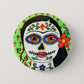 Day of the dead  catrina button