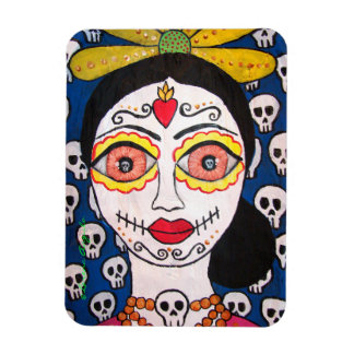 Day of the dead Catrina flexible magnet