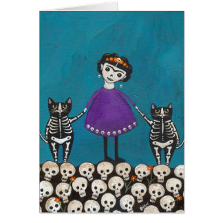 Day of the Dead Cats Card