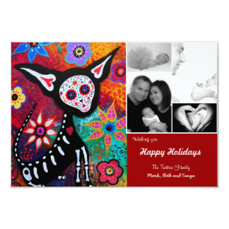 Day of the Dead Chihuahua Christmas Card Personalized Announcements