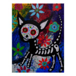 Day of the Dead CHIHUAHUA DOG Painting by Prisarts Poster