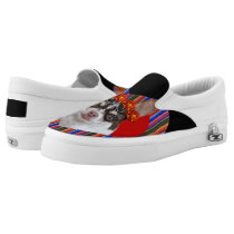 Day of the dead chihuahua dog zips shoes