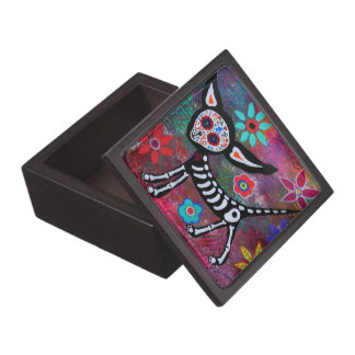 Day of the Dead Chihuahua Keepsake Box