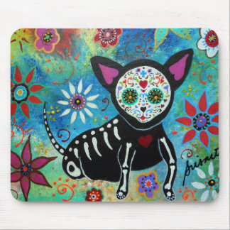 Day of the dead Chihuahua Mouse Pad