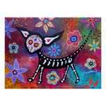 Day of the Dead Chihuahua Pet Dog Painting Poster