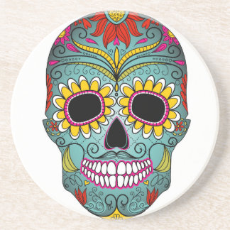day-of-the-dead-colorful-skull-with-floral-ornamen coaster