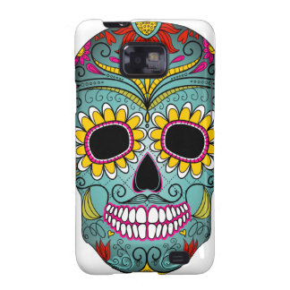 day-of-the-dead-colorful-skull-with-floral-ornamen galaxy s2 case