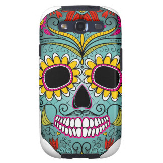 day-of-the-dead-colorful-skull-with-floral-ornamen galaxy SIII cover