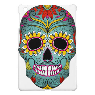 day-of-the-dead-colorful-skull-with-floral-ornamen iPad mini covers