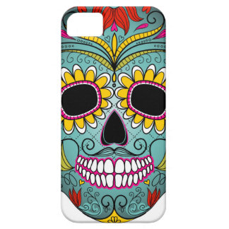 day-of-the-dead-colorful-skull-with-floral-ornamen iPhone SE/5/5s case