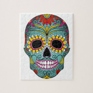 day-of-the-dead-colorful-skull-with-floral-ornamen puzzle