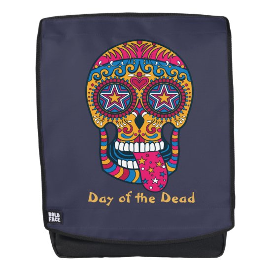 Day of the Dead, Colorful Sugar Skull Backpack