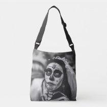 Day of the dead corpse bride shoulder bag