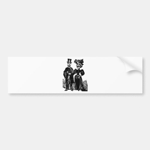 Day of the Dead Couple Bumper Stickers