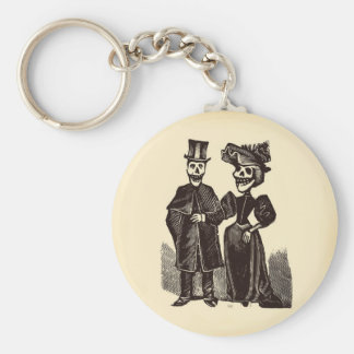 Day of the Dead Couple Basic Round Button Keychain