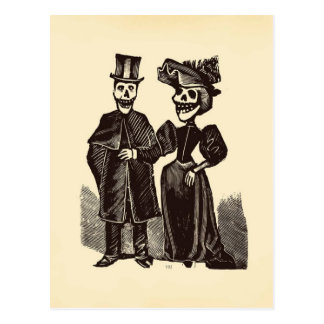 Day of the Dead Couple Postcard