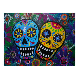 day of the dead couple poster