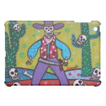 DAY OF THE DEAD COWBOY COVER FOR THE iPad MINI